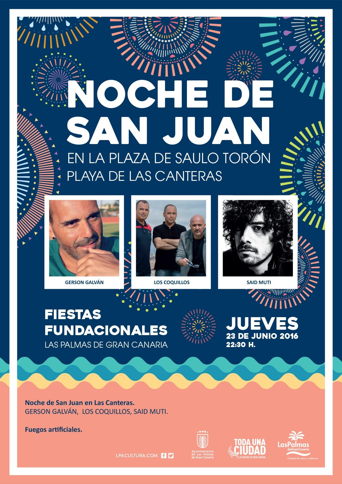 said muti hace #detripasrocknroll en las fiestas fundacionales de Las palmas de Gran Canaria
