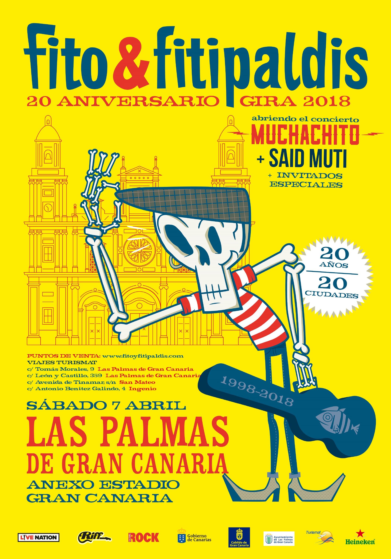 Said Muti Abrirá Como Artista Invitado El Concierto  De Fito & Fitipaldis En Las Palmas De Gran Canaria